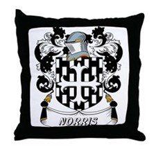 Norris Coat of Arms Throw Pillow