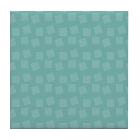 Teal Confetti Tile Coaster