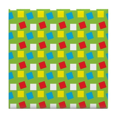 Bright Confetti Tile Coaster