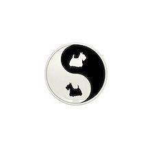 Yin Yang Scottie Mini Button (10 pack)