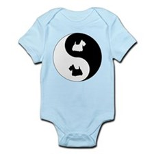 Yin Yang Scottie Infant Bodysuit