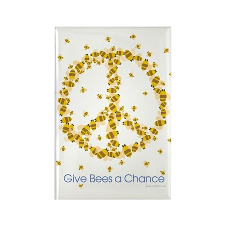 Give Bees a Chance Rectangle Magnet