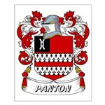 Panton Coat of Arms Small Poster