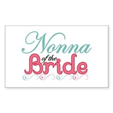 Nonna of the Bride Rectangle Decal