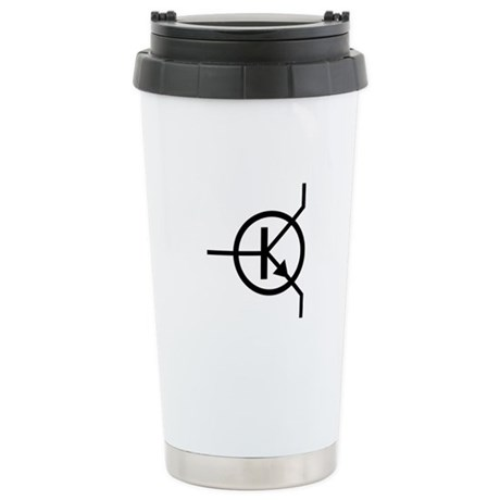 transistor icon Ceramic Travel Mug