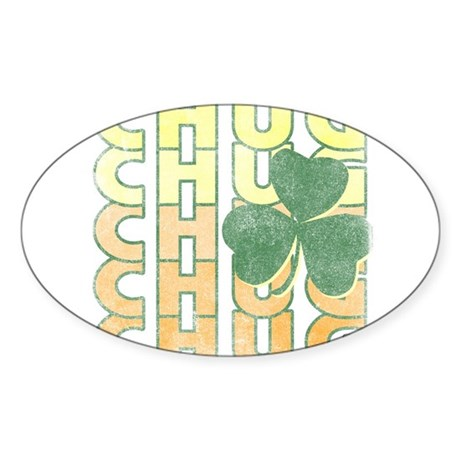 Irish Chug Oval Sticker