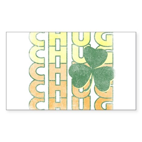 Irish Chug Rectangle Sticker