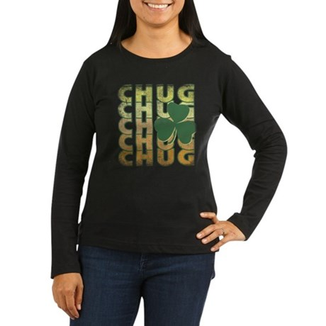 Irish Chug Womens Long Sleeve T-Shirt