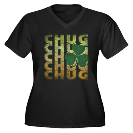 Irish Chug Plus Size V-Neck Shirt
