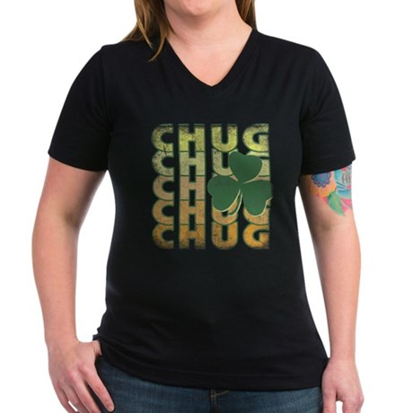 Irish Chug Womens V-Neck T-Shirt