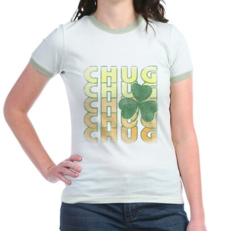 Irish Chug Jr Ringer T-Shirt