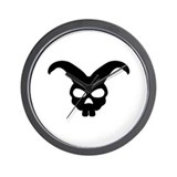 rabbit bunny skull Wall Clock