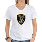 Compton College PD Women's V-Neck T-Shirt