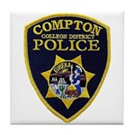 Compton College PD Tile Coaster