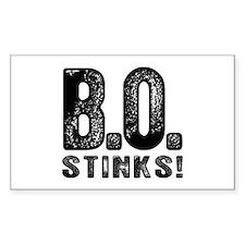 B.O. Stinks Rectangle Decal