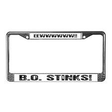 B.O. Stinks License Plate Frame