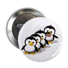 "Flock of Penguins 2.25"" Button (100 pack)"