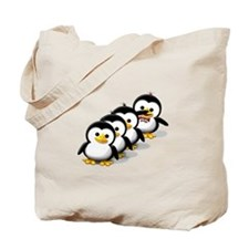 Flock of Penguins Tote Bag