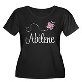 Pretty Abilene Women's Plus Size Scoop Neck Dark T