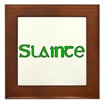 Slainte Framed Tile
