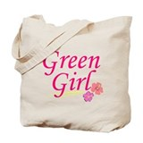 Green Girl Tote Bag