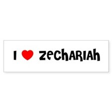 I LOVE ZECHARIAH Bumper Bumper Sticker