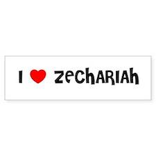I LOVE ZECHARIAH Bumper Bumper Sticker