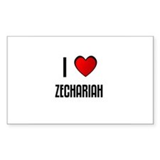 I LOVE ZECHARIAH Rectangle Decal