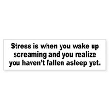 Humorous Stress Quote Bumper Sticker (10 pk)