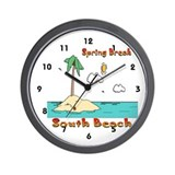 Spring Break South Beach Wall Clock