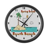 Spring Break South Beach Large Wall Clock