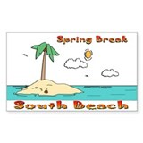 Spring Break South Beach Rectangle Decal