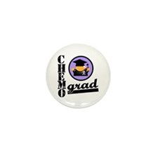 Chemo Grad Cancer Mini Button (10 pack)