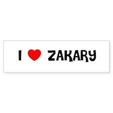 I LOVE ZAKARY Bumper Bumper Sticker