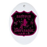 Bagpiper Diva League Oval Ornament