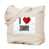 I LOVE ZAIRE Tote Bag
