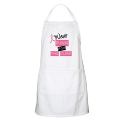 I Wear Pink For The Cure BBQ Apron