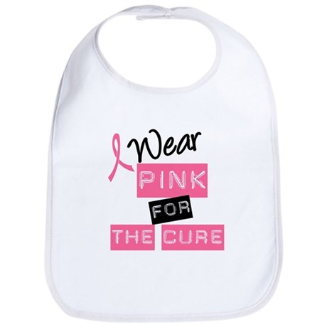 I Wear Pink For The Cure Bib