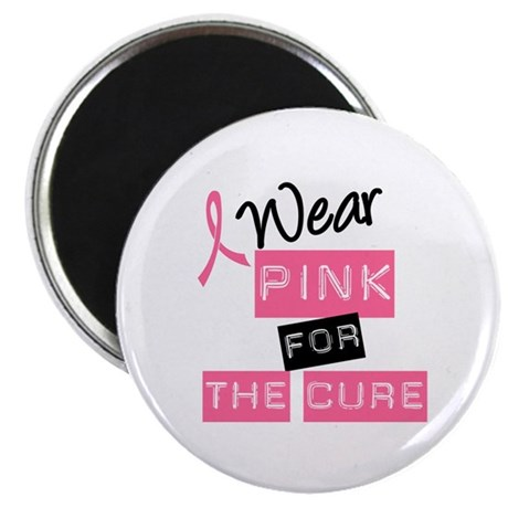 "I Wear Pink For The Cure 2.25"" Magnet (10 pack)"
