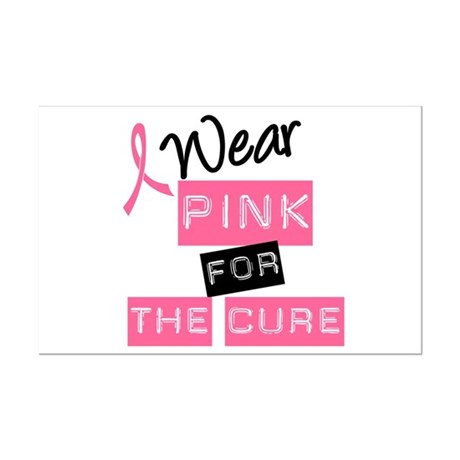 I Wear Pink For The Cure Mini Poster Print