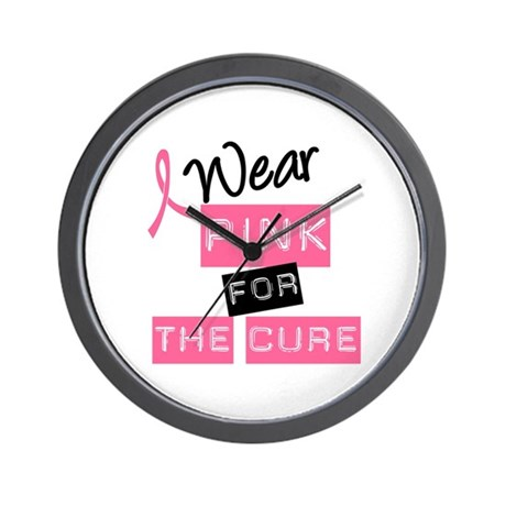 I Wear Pink For The Cure Wall Clock