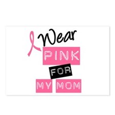 I Wear Pink For My Mom Postcards (Package of 8)
