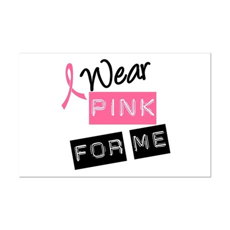 I Wear Pink Ribbon For Me Mini Poster Print