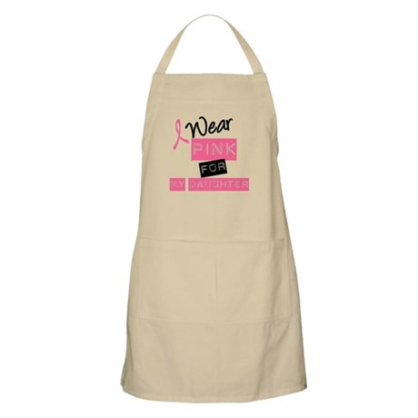 I Wear Pink For Daughter BBQ Apron