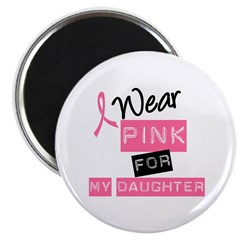 "I Wear Pink For Daughter 2.25"" Magnet (100 pack)"