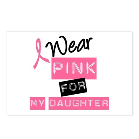 I Wear Pink For Daughter Postcards (Package of 8)