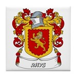 Rhys Coat of Arms Tile Coaster