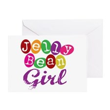 Jelly Bean Girl Greeting Card