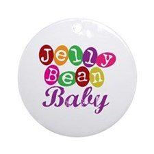 Jelly Bean Baby Ornament (Round)
