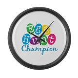 Egg Hunt Champ Large Wall Clock